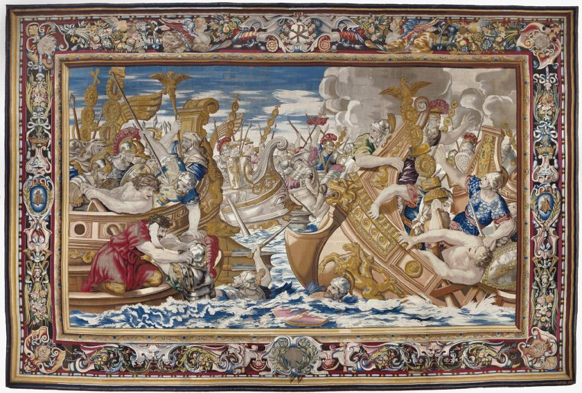 Tapestry_showing_the_Sea_Battle_between_the_Fleets_of_Constantine_and_Licinius