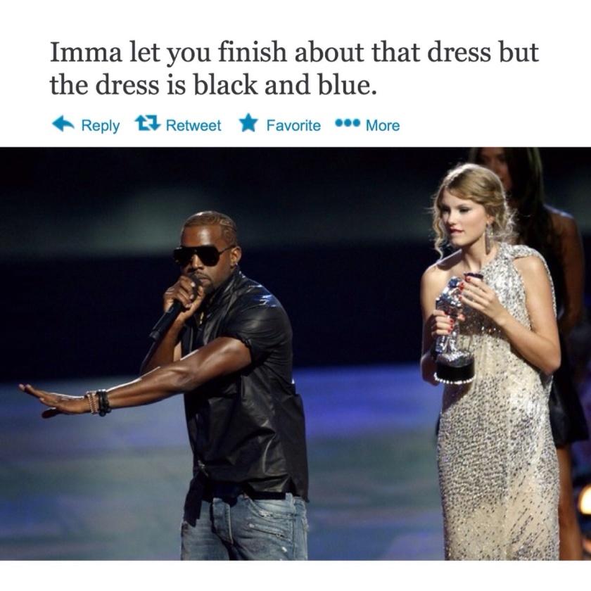it was black and blue