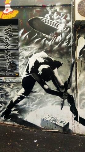 Street Art 001 - AC-DC Lane; Sacrifice and Rock & Roll 03