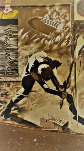 Street Art 001 - AC-DC Lane; Sacrifice and Rock & Roll 03a