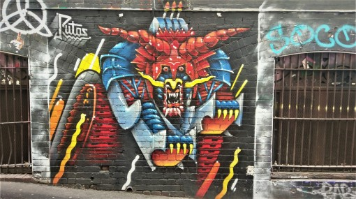 Street Art 002 - AC-DC Lane; Robo-Samurai Dragon 01