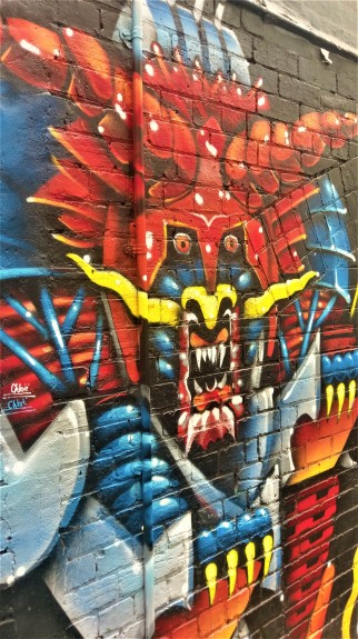 Street Art 002 - AC-DC Lane; Robo-Samurai Dragon 03