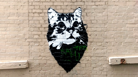 Street Art 002 - Oliver Lane; Stencil Cat 01