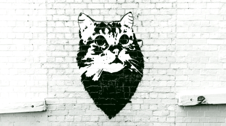 Street Art 002 - Oliver Lane; Stencil Cat 02