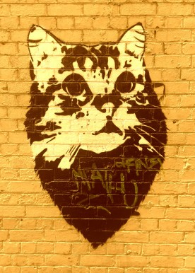 Street Art 002 - Oliver Lane; Stencil Cat 06